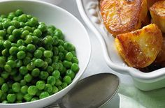 Peas tossed in butter with fresh mint