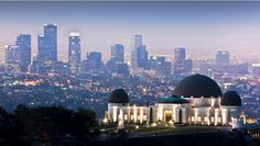 The Griffith Observatory right in front of the Downtown Los Angeles Skyline... Love this angle