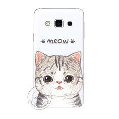 New Fashion Super Cute Cat Hard Case Cover For Samsung Galaxy S3 S4 S5 Mini S6…