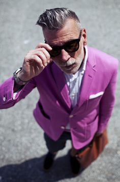 Nick Wooster #fashion #style #menswear #purple