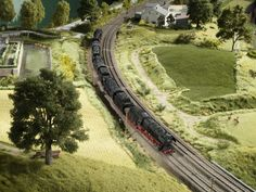 Ho Trains, Model Trains, Diorama, Scenery, Country Roads, Layout, Pictures, Time Travel, Model Train