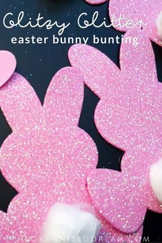 Glitzy Glitter Easter Bunny Bunting  #diy #crafts #easter #holidaydecor #homedecor
