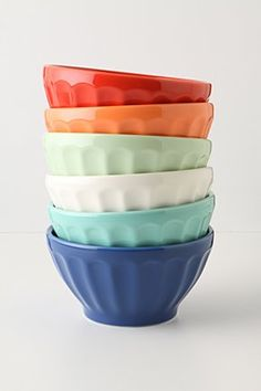 I love the multi colored bowls, this would make such a colorful cabinet!  $30.00 for a set of 6.
