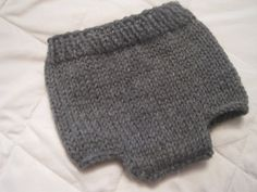 Newborn Diaper Cover  Gray  Hand Knit  Ready by SassiePassiesetc, $18.00