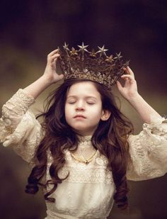 Girl with royal fantasy crown. By Lulia Chiriacescu.