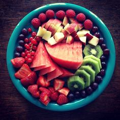 Pretty fruit plate