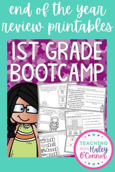 The End of the Year can be incredibly stressful...but having the right tools can make it so much easier! This bundle is truly a survival kit! It's everything you'll need to wrap up your year and send your students home to have a successful summer! It includes best sellers First Grade Bootcamp and End of Year Memory Book, Crafts, Activities, Student Awards, and more, all in printable format! | First Grade Resources | Printable Lesson Plans | Elementary Teacher Resources |