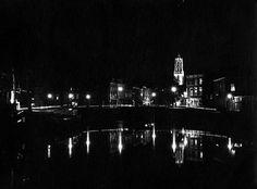 1965. De Zandbrug met het begin van de Oudegracht. Gezien vanaf de Weerdsluis Utrecht, Concert, Concerts