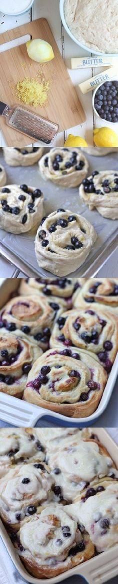 Blueberry lemon sweet rolls doesn't it look good