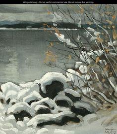 Luminen Maisema (Snowy Landscape) - Akseli Valdemar Gallen-Kallela