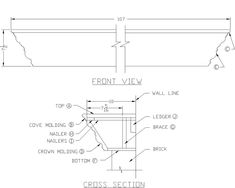 How to Build A Fireplace Mantel Shelf: use this to make that fabulous custom headboard!