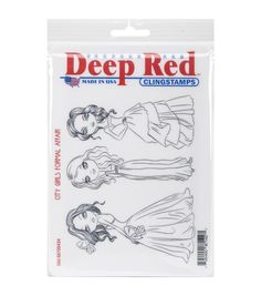 Deep Red Stamps Cling Stamp-City Girls Formal Affair