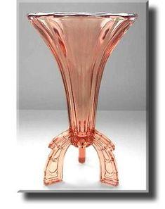Art Deco Pink Glass 'Rocket' Vase - Czech - c.1930s. @designerwallace