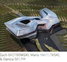 Zach GRZYBOWSKI, Maria NIKOLOVSKI, & Danica SELEM: The challenge of the 60 acre site in Napa Valley was to find a way to create an architecture that is drawn from the landscape but still keeps its autonomy