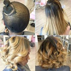 STYLIST FEATURE| This #quickweave bob ✂️ styled by #atlstylist @tre_ismyname is so pretty Great way to try a new look without cutting your hair#voiceofhair ✂️========================== Go to VoiceOfHair.com ========================= Find hairstyles and hair tips! =========================: