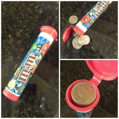 $20 in quarters fits perfectly in an m's minis tube - just right for carrying to the laundromat
