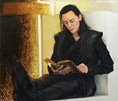 Brilliant Set Of Color Pencil Drawings Of Tom Hiddlestons Loki & Chris Hemsworths Thor