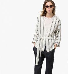 Massimo Dutti Striped Kimono Jacket
