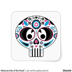 Mexican Day of the Dead 'Dia de Muertos' Skull Sticker