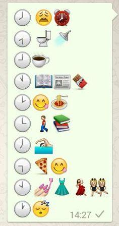 Y tú, ¿Qué haces a las 8? --I love this because it uses emojis
