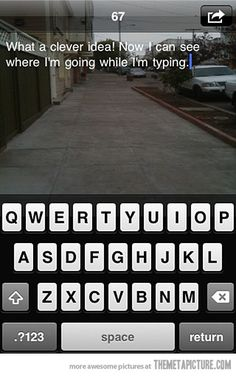 The most genius app ever created: Text while you walk…WALKING TEXT.