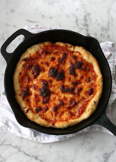 Meet the skillet pizza