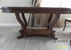 Стол деревянный из массива, дерево, дерево в интерьере, массив, изделия из дерева, изделия из массива, Бигвуд
