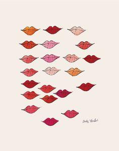 ANDY WARHOL - -  LIPS c. 1959  - - POP ART PRINT POSTER #PopArt