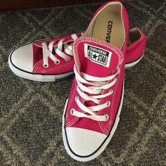 9503c812b8bf4 Pretty In Pink In These Converse All Star Shoes NWOT Brand New Hot Pink Converse  All