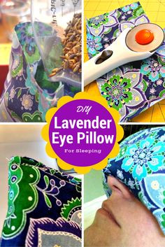An easy DIY lavender eye pillow tutorial that will take you less than 30 minutes to make. I'll never buy another eye pillow for sleeping again. Diy Eye Mask, Eye Masks, Pillow Tutorial, Textiles, Sewing Projects For Beginners, Diy Projects, Diy Pillows, Decorative Pillows, Sewing Patterns