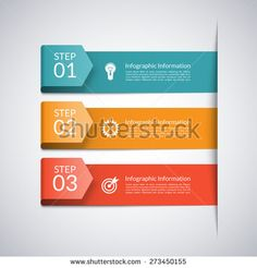 Modern minimal arrow template for business infographics. Origami style. Vector illustration. Can be used for workflow layout, brochure, diagram, chart, graph, number and step up options, web design