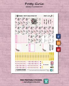 NEW WEBSITE: Free Printable Pretty Girly Planner Stickers from Sepiida Prints