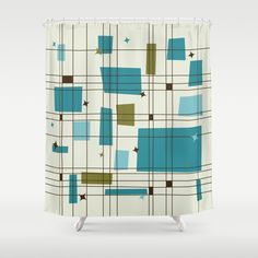 Buy Mid-Century Modern (teal) Shower Curtain by studiofibonacci. Worldwide shipping available at Society6.com. Just one of millions of high quality products available.