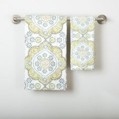 One of my favorite discoveries at WorldMarket.com: Mosaic Bath Towel Collection. for our master bath