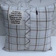 These memory pillow covers are a lovely way to remember a loved one who has passed for you, a friend or family member. You send me the shirt once you have ordered and it will take 2-3 weeks to embroider the patch and make the keepsake cushion cover wit...