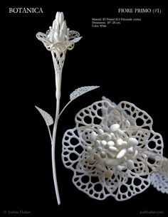 Fiore Primo Printed Filigree Flower by Joshua by JoshHarker - Printer Pen - Ideas of Printe 3d Drawing Pen, 3d Drawings, 3d Printing Business, 3d Printing Service, Impression 3d, Stylo 3d, Textile Sculpture, Digital Fabrication, Metal Models