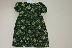 18 American Girl Doll St Patricks Shamrock Dress by sewlucky42, $12.00
