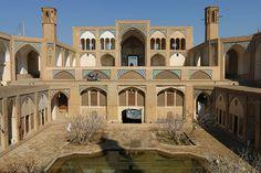 Agha bozorg theological school and mosque, Kashan, Iran.