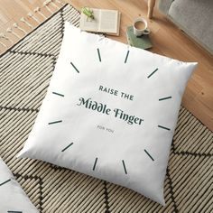 Add some fun to your sarcastic wardrobe with this funny raise the middle finger design or give it as the perfect gift!  Choose your size and color below then BUY IT NOW to place your order. Floor Pillows, Throw Pillows, Fingers Design, Positive Living, The Middle, Wealth, Canvas Prints, Printed, Awesome