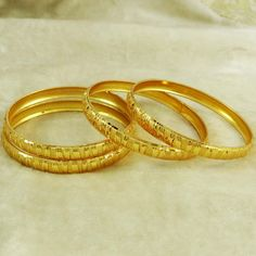 Gold plated 4PC Kada Bangles.