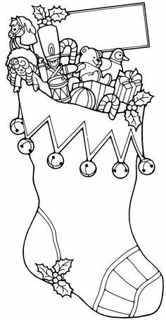 Christmas Coloring Activity Sheets Luxury Christmas Stocking with toys Free Printable Coloring Pages Free Printable Coloring Pages, Coloring Book Pages, Coloring Sheets, Free Printables, Christmas Colors, Christmas Art, Christmas Stockings, Christmas Sock, Christmas Coloring Pages