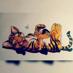 Tiger Tigre Cute Filhote Desenho Drawing  Insta: icarodn27