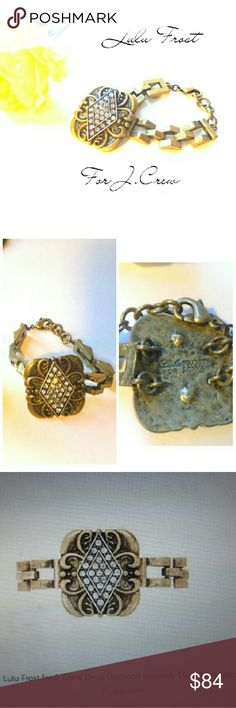 LULU FROST J.CREW DECO DIAMOND BRACELET LULU FROST FOR J.CREW DECO DIAMOND BRACELET.  20'S FINE JEWELRY COLLECTION  MSRP  $125  NWOT! J. Crew Jewelry Bracelets