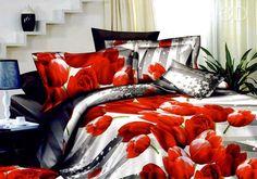 Pościel: czerwony, biały, czarny
