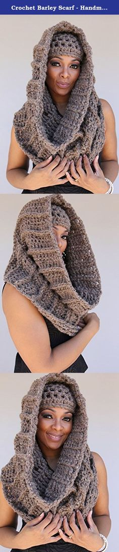 Crochet Barley Scarf - Handmade - Scarf and Beanie. Keep it looking hot even when it's cold out. I was inspired by the cowl in Outlander...and wanted to do an oversized version. I love pieces that can be worn multiple ways. It means it will have multiple functions. If you a fan of the infinity scarf this set is for you. This sassy set gets the job done; both functional and Funky. This cap and neck-warmer are crocheted with in an acrylic and wool blend, very soft and nice to the skin. This...
