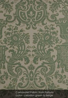 Carnavalet fabric from Fortuny in celadon green