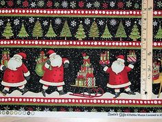 Santa-039-s-Gifts-Debbie-Mumm-Sampler-Christmas-Fabric-by-the-1-2-Yard-67489