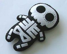 Día de la muñeca muerta esqueleto azúcar cráneo felpa