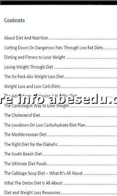 Free 14 Day Weight Loss Diet