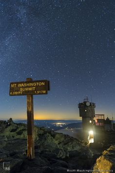 The night sky at the Mt. Washington Summit provides enough starlight to guide you towards your next NH adventure.